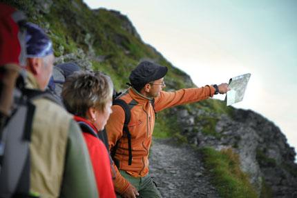 Wandern mit Wanderführer